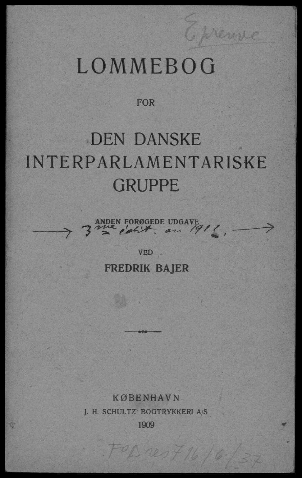 Lommebog for den Danske Interparlamentariske Gruppe